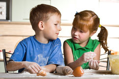 Children's cooking Royalty Free Stock Photography