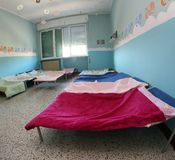 Children's COTS inside the dormitory Stock Photography