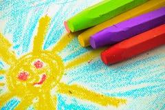 Children's crayon Royalty Free Stock Photo