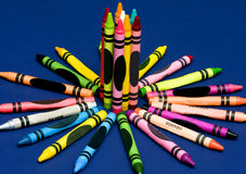 Children's Crayons Royalty Free Stock Photography