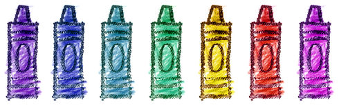 Children's Crayons Illustration Royalty Free Stock Photo
