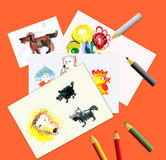 Children's creativity Stock Images