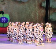 Children's dance group Royalty Free Stock Photography