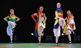 Children`s dance group on stage Royalty Free Stock Photo