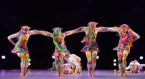 Children`s dance group on stage Stock Images