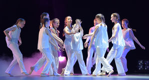 Children`s dance theater show Royalty Free Stock Photo