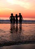 Children´s dans la plage Photos libres de droits