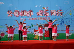 Children's Day performance Stock Image
