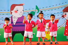 Children's Day performances royalty free stock images