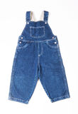 Children's denim overalls Stock Photography