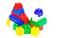 Children's Designer of the bricks Stock Photography