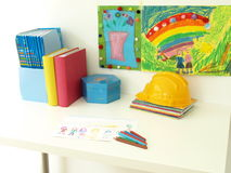 Children's desk Royalty Free Stock Image