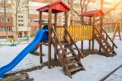 children& x27; s-Dias und -spielplätze Stockbild