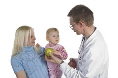 The children's doctor and the small child Royalty Free Stock Photography