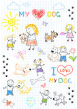 Children's and dogs Stock Images