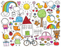 Children's doodle Stock Photos