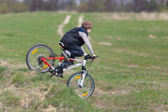 Children's downhill Royalty Free Stock Images