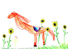 Children's drawing Royalty Free Stock Photography