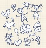 Childrens drawing Stock Photography
