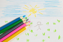 Children's drawing Stock Photos