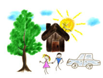 Children's drawing Stock Photography