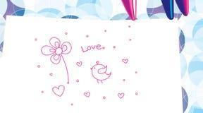 Children's drawing. Stock Photo