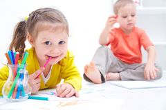 Children's drawing Royalty Free Stock Photo