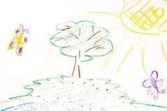 Children's drawing stock illustration