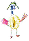 Children's drawing birds glasses Royalty Free Stock Photos