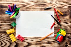 Children's drawing blank. With space for text or greeting background Royalty Free Stock Images