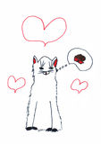 Children's drawing of a cat Royalty Free Stock Images