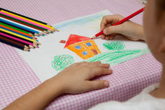 Children's drawing. Royalty Free Stock Photography