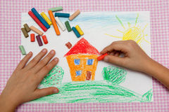 Children's drawing. Royalty Free Stock Image