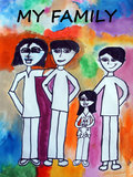 Children s drawing Royalty Free Stock Images