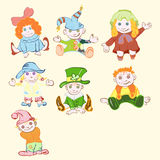 Children`s drawing of children in costumes Royalty Free Stock Photos