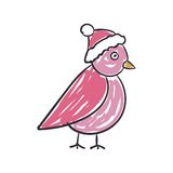 Children's Drawing of a Christmas Bird Royalty Free Stock Image