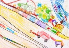 Children's drawing. fantasy Stock Photos