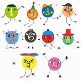 Children`s drawing figures with figures. Quality vector illustration for your design Stock Images
