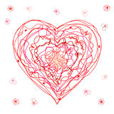 The children`s drawing heart for a Mother`s Day, Valentine`s Day or weddings Stock Images