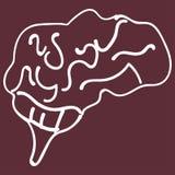 Children s drawing of human brain vector illustration