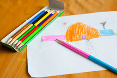Children's drawing and painting Royalty Free Stock Photography