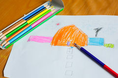 Children's drawing and painting Stock Photos