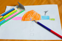 Children's drawing and painting Royalty Free Stock Image