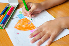 Children's drawing and painting Stock Photography