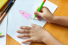 Children's drawing and painting Royalty Free Stock Photos