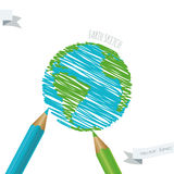 Children's drawing of the planet Earth. Stock Photography