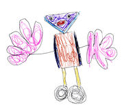 Children's drawing robot Royalty Free Stock Images