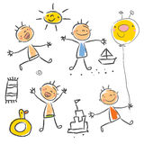 Children's drawing series Stock Photography