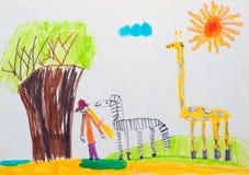 Children's drawing Stock Photo