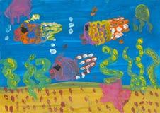 Children's drawings Stock Image